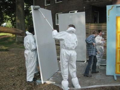 """Vorarbeiten für das Achtklassspiel """"Das Gespenst von Canterville"""" (Mai 2012)"""