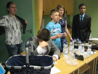 """nach der Uraufführung """"Das fliegende Klassenzimmer"""" (Juni 2012)"""